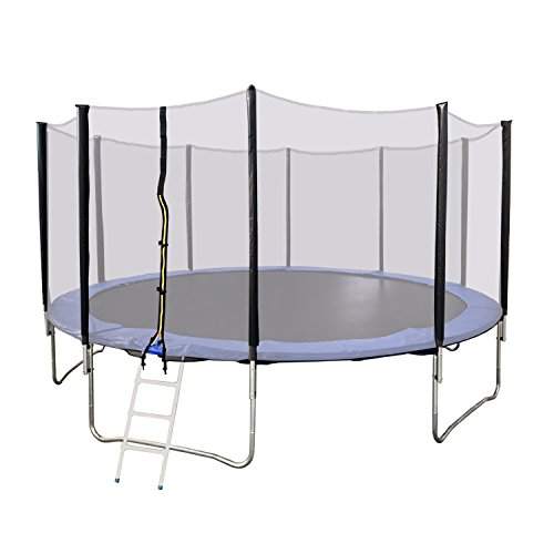 Aleko Trp15 15 Foot Trampoline With Safety Net And Ladder