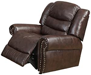 Amazon.com: Beverly Furniture Liverpool Bonded Leather ...