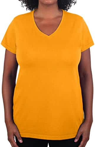 Have It Tall Women's V Neck T Shirt Premium Ringspun Cotton Made In USA