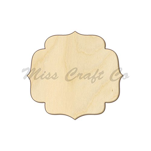 Brussels Plaque Wood Shape Cutout, Wood Craft Shape, Unfinished Wood, DIY Project. All Sizes Available, Small to Big. Made in the USA. 10 X 9.1 - Brussel Wood