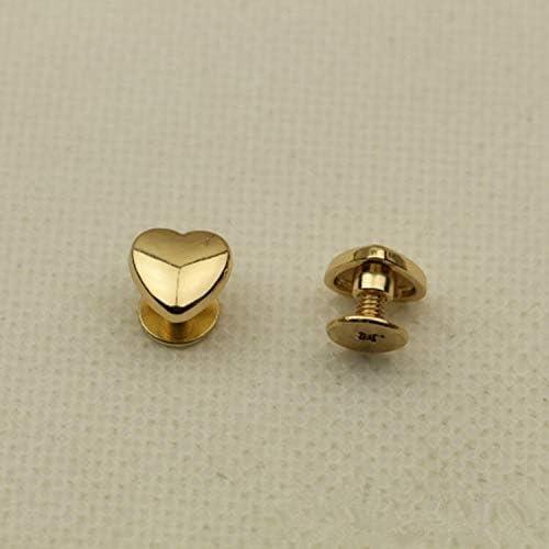 HHTC DIYツール、ネジやバッグのハードウェアハンドバッグの装飾的なスタッドボタンの金属の爪バックルレザークラフトアクセサリ