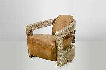 casa padrino art deco leather armchair mars leather beige vintage
