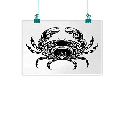 Crabs,Wall Pictures Artistic Design of an Aquatic Arthropod Marine Biology Underwater Wildlife Inspired W 24