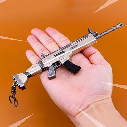 KOBWA Arma Scar Guns Pistola 3D Modelo Llavero de Metal, Tamaño 6.8