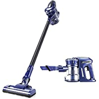 PUPPYOO 2-in-1 Cordless Stick Vacuum & Handheld Vacuum Cleaner, 120W Powerful Suction Bagless Lightweight, Equipped Wall Bracket Easy Home Cleaning