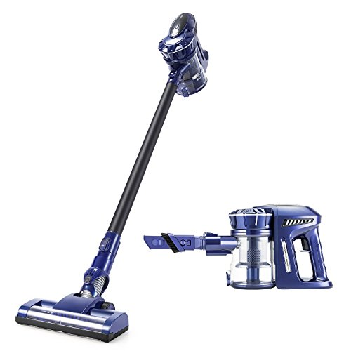 PUPPYOO Cordless Vacuum Cleaner, 2 in 1 Handheld Vacuum with 9Kpa Strong Suction Bagless Stick Rechargeable Lightweight Vacuum for Floor Carpet Car Pet Hair Wall Mount,536 ()