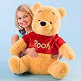Disney Exclusive Large WINNIE THE POOH Plush Toy -- 18'' H seated