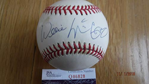 WILLIE McCOVEY Signed National League Baseball -JSA Authenticated #Q86828