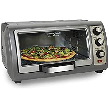 Hamilton Beach Countertop Toaster Oven, Easy Reach With Roll-Top Door, 6-Slice, Convection (31123D), Silver