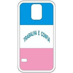 Espirito Santo Flag White Samsung Galaxy S5 Cell Phone Case - Cover