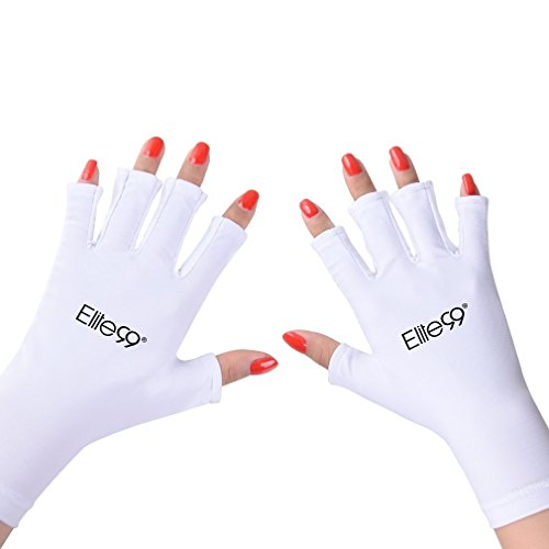 Elite99 Nails UV Shield Glove Anti UV Glove for Gel Manicures with UV/LED Lamps - ()