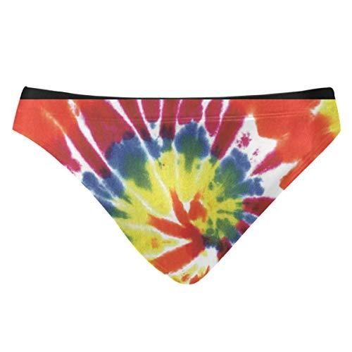 Anyangquji Men Swimwear Swim Bikini Briefs Tie Dye Colors Swimsuits Board Surf Shorts ()