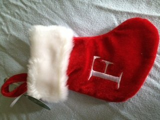kurt adler mini initial plush christmas stocking available in de g h