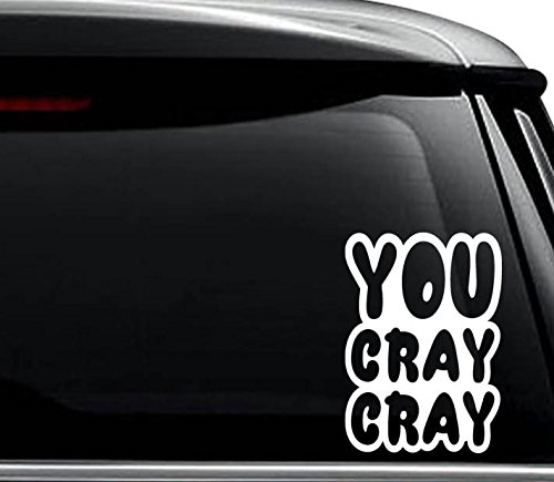 You Cray Cray Decal Sticker For Use On Laptop  Helmet  Car  Truck  Motorcycle  Windows  Bumper  Wall  And Decor Size   8 Inch     20 Cm  Tall   Color  Gloss White