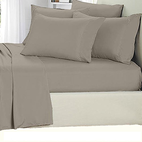 Aloe Vera Bamboo Sheet Set 1800 Series Queen Gray Buy Online In