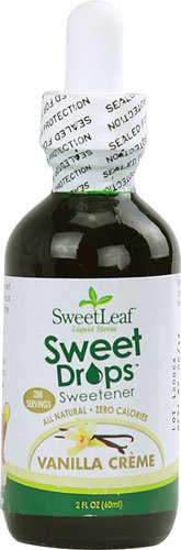 Ancients Stevia (Sweet Leaf Sweet Drops Vanilla Creme Flavored Liquid Stevia, 2-Ounce Bottle)