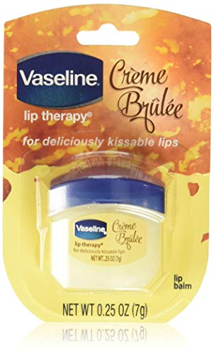 Vaseline Lip Therapy Lip Balm, Creme Brulee 0.25 oz (Pack of 4)