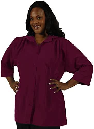 A Personal Touch Wine Women's Plus Size Blouse