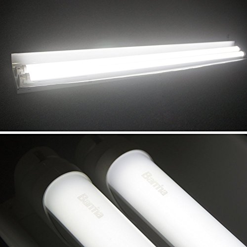 Barrina T8 T10 T12 LED Light Tube, 4ft, 24W 2500Lm, 6000K Super Bright White, Dual-End Powered, Frosted Cover, G13, T8 T10 T12 Fluorescent Light Tubes Replacement, 8-pack by Barrina (Image #1)