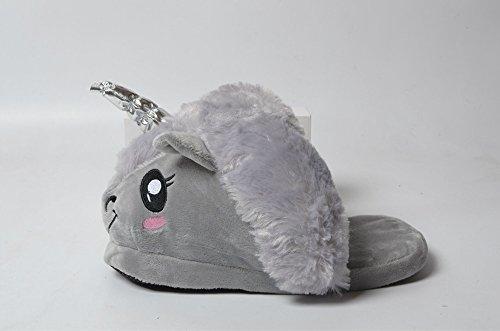 Chaussons Colorfulworld Licorne Pantoufles Unicorn Chaussons Peluche Peluche Gris fqvYwq8F