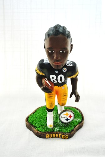 Pittsburgh Steelers #80 Burress rare action Forever Collectibles NEW IN BOX FOOTBALL BOBBLE HEAD 8