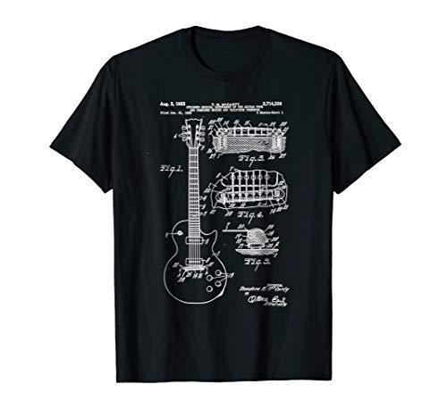 (Guitar Patent Print 1955 - Vintage Patent Print Art Shirt)