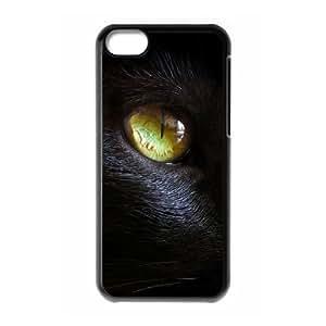 DIY Phone Case for Iphone 5C, Black Cat Cover Case - HL-R637484