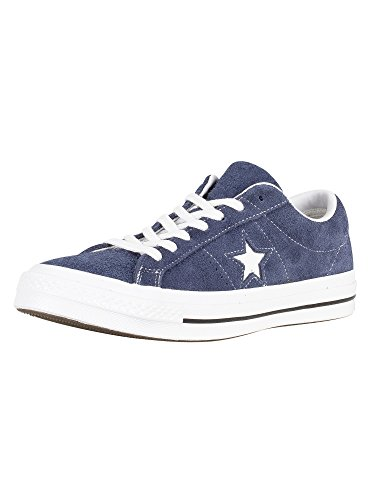 Converse Men's One Star Suede Low Top Sneakers, Navy, 8.5 D(M) US (Star Low Shoes)