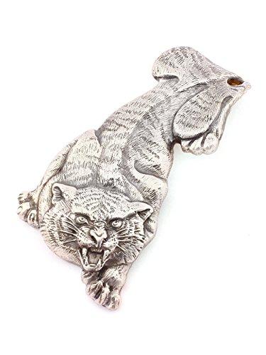Silver Banknote clip Money clip ''Tiger'' by Sribnyk - Gallery of Silver Art