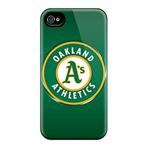 Shock-Absorbing Cell-phone Hard Cover For Iphone 4/4s (YSw1190kZgn) Customized Attractive Oakland Athletics Pattern