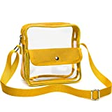 Clear Purse, F-color NFL Stadium Approved Clear Bag, Cross Body Bag for Women and Men, Yellow