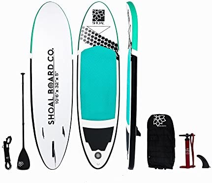 Shoal Board Co. Premium All-Around Inflatable SUP Kit Paddle Board Kit by
