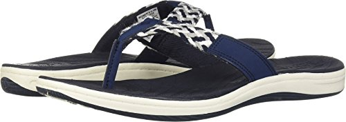 (Sperry Top-Sider Women's Seabrook Swell Flat Sandal, Navy, 7.5 Medium US)