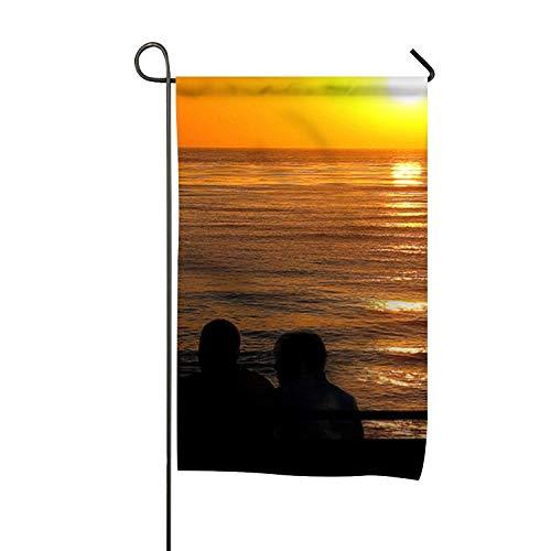 Yantani Sunset Cruise Welcom Decorative Season Double Sided Garden Flag - for Garden,Yard,Home ()