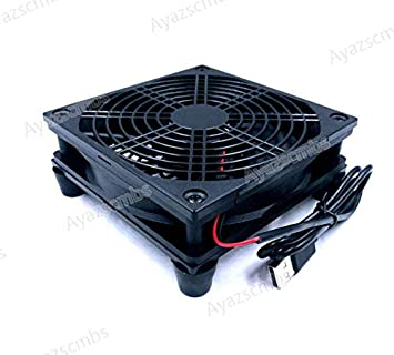 Ayazscmbs Router Ventilador DIY PC Enfriador TV Box Wireless ...