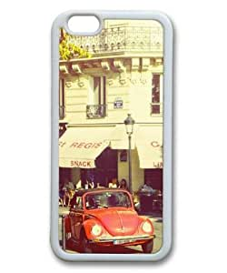 iphone 6 4.7 Case, Vintage Car Slim Fit Case for iphone 6 4.7 Soft TPU Material White