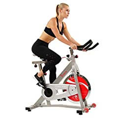 Bring a powerful training routine to the comfort of your home with the Sunny Health & Fitness SF-B901B Belt Drive Indoor Cycling Bike. Designed for stability, secure your feet into the universal toe cages. Tailor the stationary bike to yo...