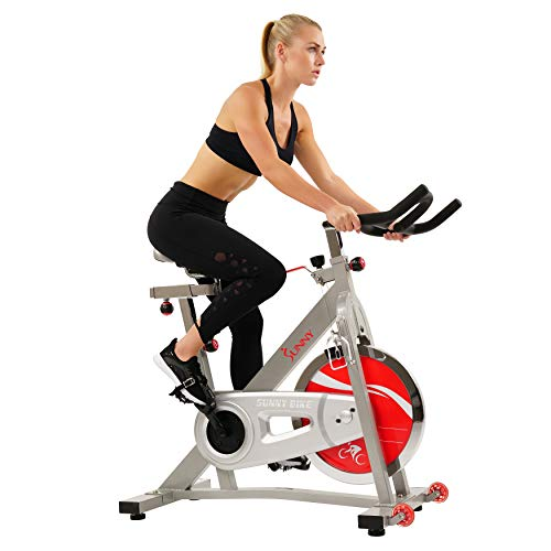 Sunny Health & Fitness Spin Bike SF-B901B Belt Drive Pro Indoor Cycling Exercise Bike