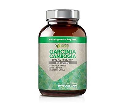 Vitamin Bounty - Garcinia Cambogia 100% Pure Extract with 100% Moneyback Guarantee - 60 Count - 1000mg