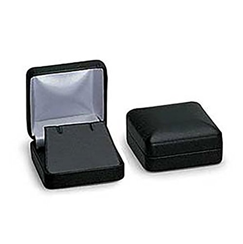 Faux Leather Pendant - SSWBasics Black Faux Leather Pendant Box - 50 Included
