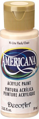 DecoArt Americana Acrylic Paint, 2-Ounce, Hi-Lite Flesh by DecoArt