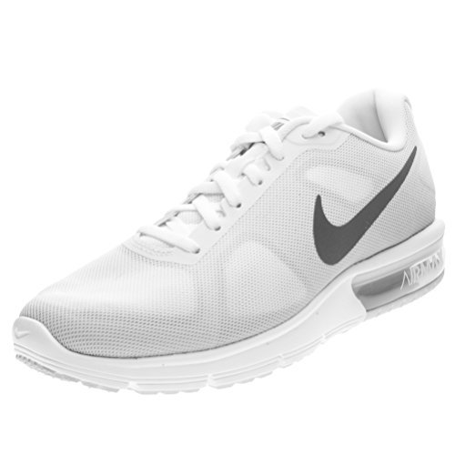 sports shoes 7d299 60487 Galleon - Nike Air Max Sequent Womens Running Shoes (10 B(M) US, White Cool  Grey Pure Platinum Metallic Dark Grey)