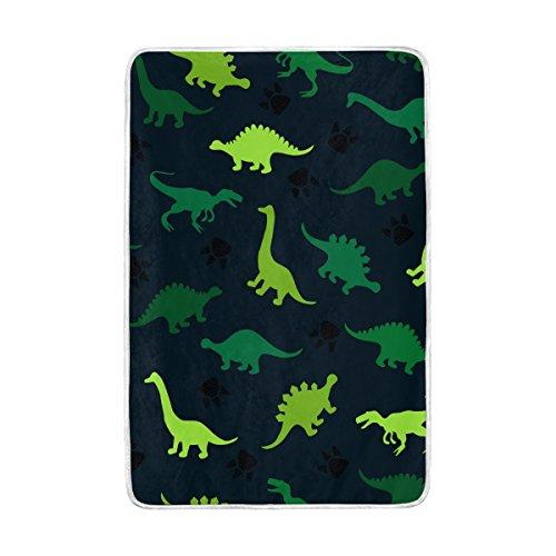 ALAZA Dinosaur Animal Polyester Plush Throws Siesta Camping