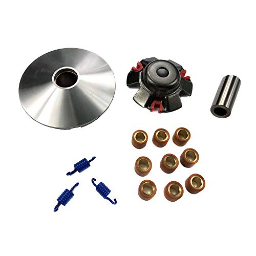 (MYK Performance Variator Kit (CVT) - Fits GY6 125cc 150cc 4-Stroke Engines - 13g Roller Weights)