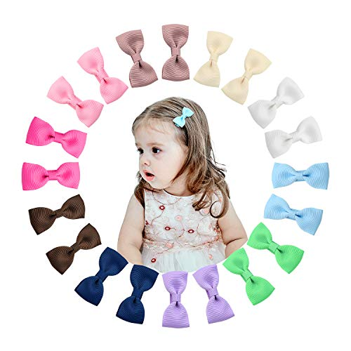 Shemay 10 Pairs 2 inches Tiny Boutique Grosgrain Ribbon Hair Bow Alligator Clips Barrettes for Baby Girls Toddlers Kids (Best Hair Oil For Toddlers)