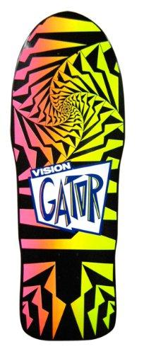 Vision Gator 2 Reissue Skateboard Deck, Black/Pink Fade, 10.25 x 29.75-Inch