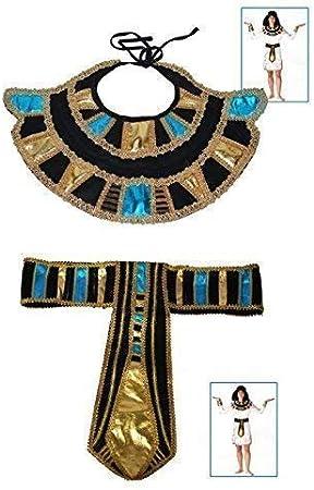 Collar egipcio con cinturón y Cleopatra en el aspecto elegante de ...