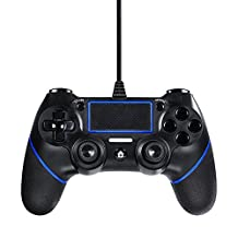 PS4 Wired Controller for Playstation 4, Lilyhood Professional USB PS4 Wired Gamepad for Playstation 4/PS4 Slim/PS4 Pro Cable Length 6.5ft