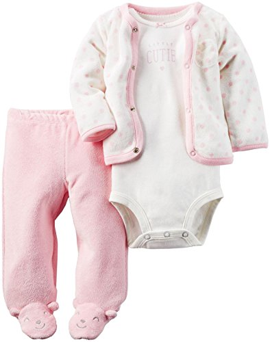 Carter's Baby Girls' 3 Pc Sets 126g324, Pink/White, 3 Months