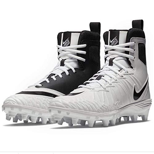 Nike Mens Force Savage Varsity Football Cleats (9.5, White/Black/White)